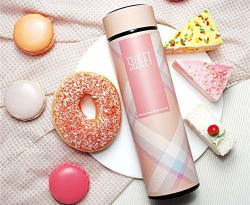 Sultaan Pink Vacuum Insulated Steel Bottle with Filter for Hiking- 12hours Hot/ Cold Liquid (500 ml)
