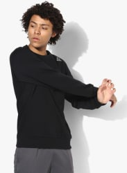 El Fleece Crew Black Training Sweatshirt