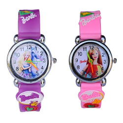 Faas Rubber Band Analogue White Dial Kids Watches Combo - Fw0119Bc