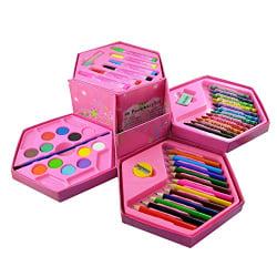 Parteet Colors Box Color Pencil ,Crayons , Water Color, Sketch Pens Set Of 46 Pieces (Color & Design For Kids)