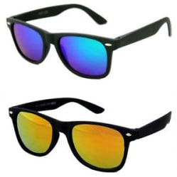 Details about Combo of Sunglasses With Blue and Gold Mirror Shade