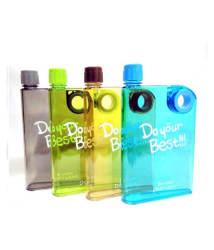 K Kudos 380ml BPA Free Notebook Shaped Water Bottle for Hiking & Camping (Pack of 2)