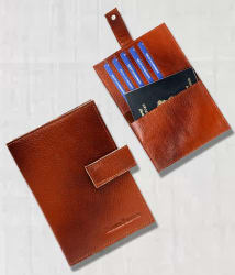 Hammonds Flycatcher 100% Genuine Leather Tan Passport Holder