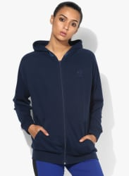 Classic Franchise Fz Navy Blue Sweat Jacket