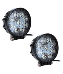 Accessoreez 9 LED Round AUX Fog Light For Royal Enfield Classic 350 - Set Of 2
