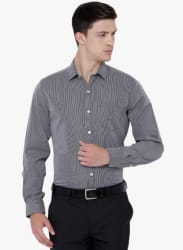 Grey Solid Formal Shirt