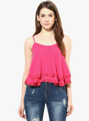 Pink Solid Blouse