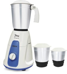 Inalsa Polo 550 W Mixer Grinder White, Blue, 3 Jars