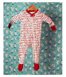 Indirang Organic Cotton Red Romper