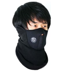 Bike Riding Neoprene Non UV & Winter Protection Anti Pollution Half Face Neck warmer Nose & Mouth Mask - Black