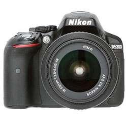 Nikon D5300 (with AF-P 18-55mm VR Kit Lens) DSLR Camera (Black)