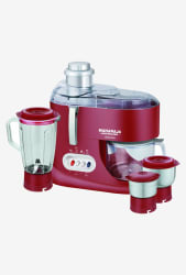 Maharaja Whiteline Ultimate 550 W 3 Jars Juicer Mixer Grinder (Red)
