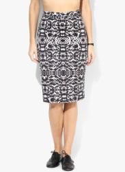 Multicoloured Pencil Skirt