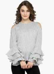 White Striped Blouse