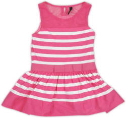 United Colors of Benetton Girls Midi/Knee Length Casual Dress (Pink, Sleeveless)