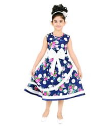 STYLOKIDS FESTIVE AND PARTY WEAR STYLISH FLAIR PRINCESS BLUE FROCK