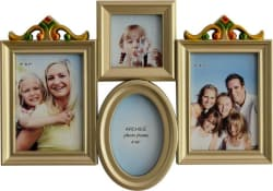 Archies Glass Photo Frame (Silver, 4 Photos)