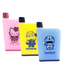Tuelip Multicolour NoteBook Water Bottle -Pack of 3