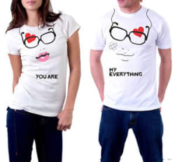 Couple You Are My Everything Printed Designer T-Shirt For Men Women Love Romance
