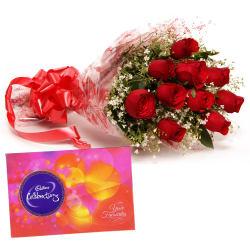 Ferns N Petals Valentine - Flowery Celebration