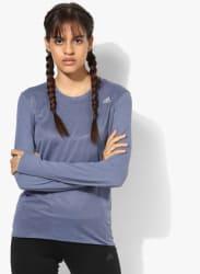 Sn Running Blue Round Neck T-Shirt