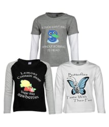 Goodway Pack of 3 Boys Full Sleeve Multicolor T-shirts DYK Theme-1