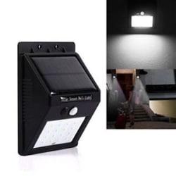 20 LED Solar Power PIR Motion Sensor Wall Night Lights Outdoor Waterproof Lamps