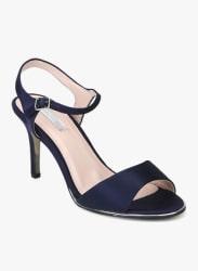 Senorita Navy Blue Ankle Strap Stilettos