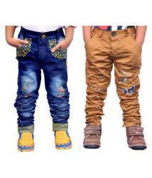 AD & AV COMBO CARGO JEANS AND KHAKI CARGO FOR SMART BOYS