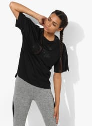 Pwr Swagger Black Round Neck T-Shirt
