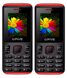 Gfive U707 Combo of Two Mobiles (Black Red)
