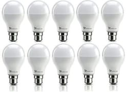 SYSKA Led 9 Watt Bulb B22 Base Pack Of 10 (Cool White) (900 Lumens)