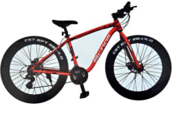 STYLENSTYLE RACER-5353 18 T 21 Gear Recreation Cycle (Black, Red)
