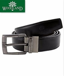 Stylish Black and Brown Reversible 100% Pure Leather Belt For Men