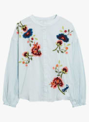Light Blue Embroidered Shirt