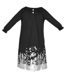 Lil Orchids Black Cotton Dress
