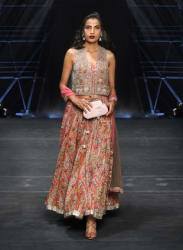 Multicoloured Printed Lehenga