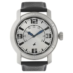 Fastrack Silver Dial Analog Watch for Men (3021SL03)