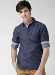 Navy Blue Regular Fit Casual Shirt