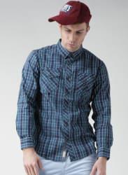 Blue Regular Fit Casual Shirt