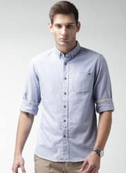 Light Blue Regular Fit Casual Shirt