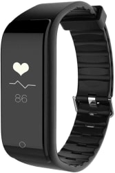 Riversong Wave Fit Fitness Tracker with Dynamic Heart Rate Monitor (Black Strap, Size : Regular)