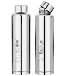 NanoNine 900 ml Stainless Steel Fridge Bottle 2Pc
