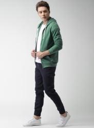 Green Solid Sweatshirt
