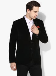 Black Solid Blazer