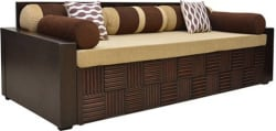 HomeTown Shina Double Foam Sofa Bed (Finish Color - Walnut Brown Mechanism Type - Pull Out)