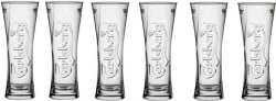 Carlsberg 300ml Club Beer Bar wine Glasses Premium Big Glass Glass Set (300 ml, Clear, Pack of 6)