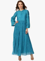 Turquoise Solid Maxi Dress