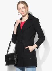 Black Solid Long Coat