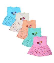 SR CREATIONS BABY GIRL DRESS (PACK OF 5)-(KA_156)